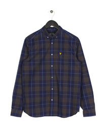 Lyle & Scott Poplin Check Shirt Z99 Navy