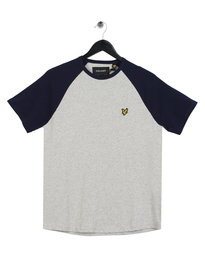 Lyle & Scott Raglan Ringer T-Shirt Grey
