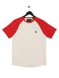 Lyle & Scott Raglan Ringer T-Shirt Red