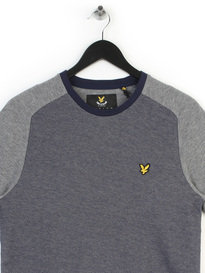 LYLE & SCOTT REVERSE BIRDSEYE T-SHIRT BLUE
