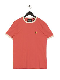 Lyle & Scott Ringer T-Shirt Sunset Pink