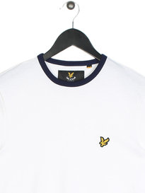Lyle & Scott Ringer Short Sleeve T-Shirt 626 White