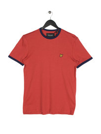 Lyle & Scott Ringer Short Sleeve T-Shirt A08 Red