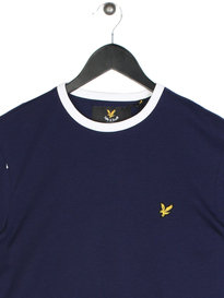 Lyle & Scott Ringer Short Sleeve T-Shirt Z99 Navy
