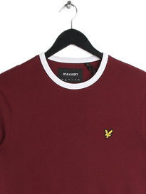 Lyle & Scott Ringer T-Shirt Claret Red