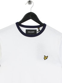 Lyle & Scott Long Sleeve Ringer T-Shirt White