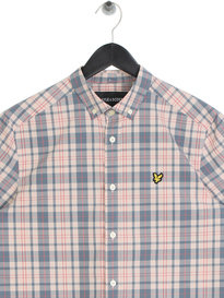 Lyle & Scott Short Sleeve Check Shirt Pink