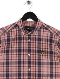 Lyle & Scott Short Sleeve Check Shirt Z465 Red