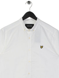 Lyle & Scott Short Sleeve Oxford Shirt 626 White