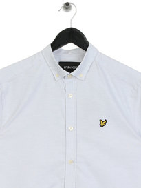 Lyle & Scott Short Sleeve Oxford Shirt Blue