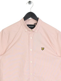 Lyle & Scott Short Sleeve Oxford Shirt Z261 Pink
