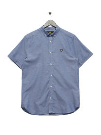 Lyle & Scott Short Sleeve Running Stitch Shirt Blue