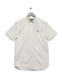 Lyle & Scott Short Sleeve Running Stitch Shirt White
