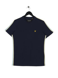 Lyle & Scott Side Stripe T-Shirt Navy