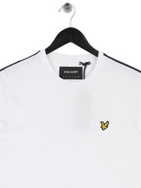 Lyle & Scott Side Stripe T-Shirt White