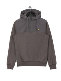 Lyle & Scott Soft Shell 1/4 Zip Hoodie Grey