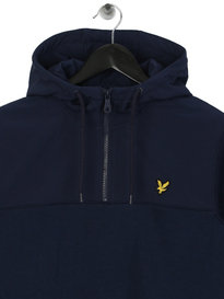 Lyle & Scott Soft Shell 1/4 Zip Hoodie Navy