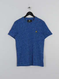 LYLE & SCOTT SPACE DYE TSHIRT BLUE