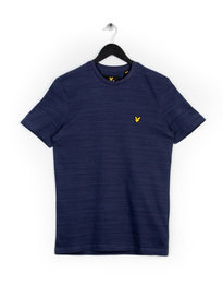 LYLE & SCOTT SPACE DYE T-SHIRT NAVY