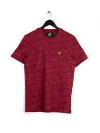 LYLE & SCOTT SPACE DYE T-SHIRT RUBY RED