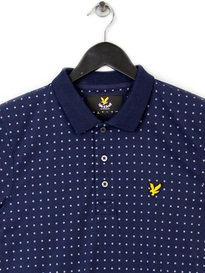 Lyle & Scott Square Dot Polo Shirt Navy