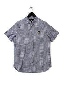 Lyle & Scott Square Dot Shirt Navy