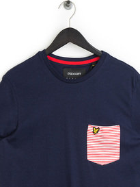 Lyle & Scott Stripe Pocket T-Shirt Navy