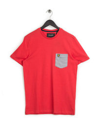 Lyle & Scott Stripe Pocket T-Shirt Poppy Red