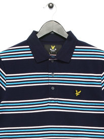 Lyle & Scott Stripe Polo Shirt Navy