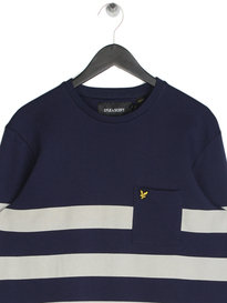 Lyle & Scott Stripe Sweatshirt Navy
