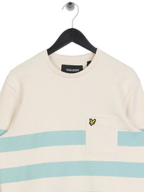 Lyle & Scott Stripe Sweatshirt Z269 Off White