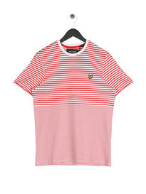 Lyle & Scott Stripe T-Shirt Red