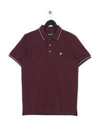 Lyle & Scott Tipped Polo Shirt Burgundy