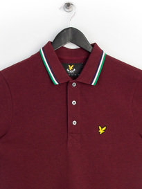 Lyle & Scott Tipped Polo Shirt Claret Red