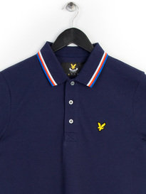 Lyle & Scott Tipped Polo Shirt Navy