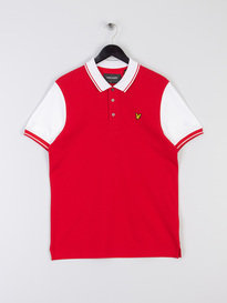8a9b07cad Lyle   Scott Tipped Polo Shirt Z586 Red