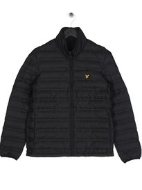 Lyle & Scott Wadded Funnel Neck Jacket Black