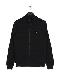 Lyle & Scott Wadded Funnel Zip Up Black