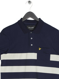Lyle & Scott Wide Stripe Polo Shirt Navy