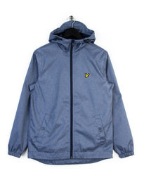 LYLE & SCOTT ZIP THROUGH HOODED JACKET BLUE
