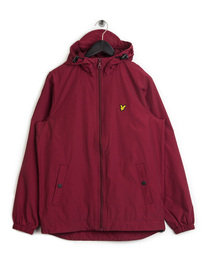 Lyle & Scott Zip Through Hooded Jacket Claret