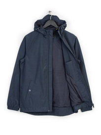LYLE & SCOTT ZIP THROUGH HOODED JACKET NAVY