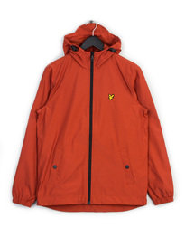 LYLE & SCOTT ZIP THROUGH HOODED JACKET ORANGE