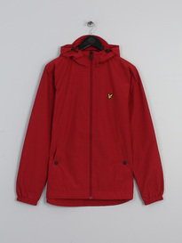 LYLE & SCOTT ZIP THROUGH HOODED JACKET RED