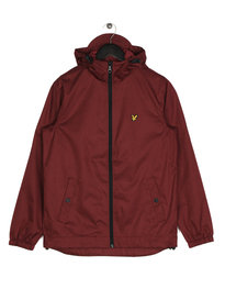 Lyle & Scott Zip Through Hooded Jacket Z133 Claret