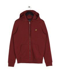 Lyle & Scott Zip Through Hoodie 477 Claret