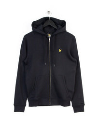 LYLE & SCOTT ZIP THROUGH HOODIE BLACK