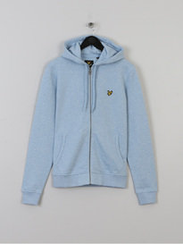 LYLE & SCOTT ZIP THROUGH HOODIE BLUE