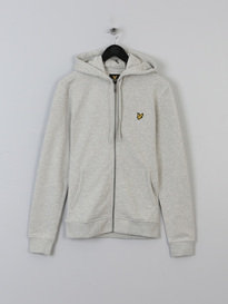 LYLE & SCOTT ZIP THROUGH HOODIE GREY