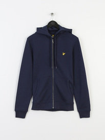 LYLE & SCOTT ZIP THROUGH HOODIE NAVY